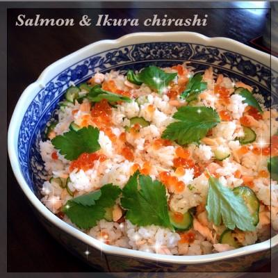 Salmon & Ikura chirashi