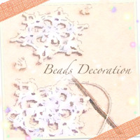 Tatting beads decoration