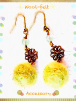 Wool-felt earrings